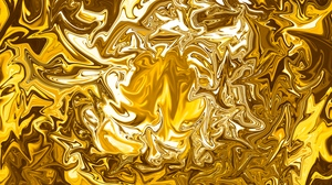 Preview wallpaper abstraction, golden, ripples, surface, wavy