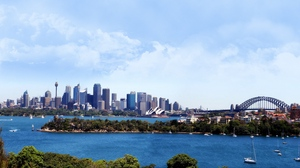 Preview wallpaper australia, bridge, building, city, sydney