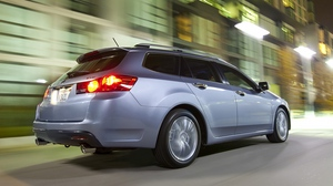 Preview wallpaper 2010, acura, asphalt, blue, cars, city, lights, side view, speed, street, style, tsx