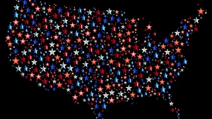 Preview wallpaper america, map, stars, usa, vector