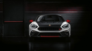 Preview wallpaper abarth, black, fiat, front view