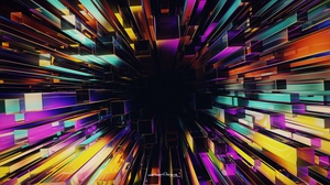 Preview wallpaper 3d, abstraction, multicolored, structure