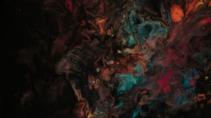 Preview wallpaper abstraction, colorful, dark, spots, stains