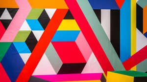 Preview wallpaper abstraction, colorful, geometric, lines, modern art, pattern, shapes
