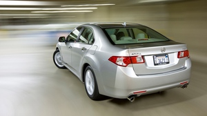 Preview wallpaper 2008, acura, cars, rear view, silver metallic, speed, style, tsx