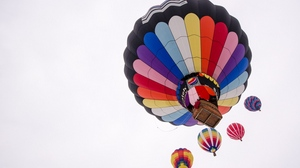 Preview wallpaper air balloon, colorful, flight, sky