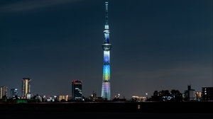 Preview wallpaper architecture, backlight, building, city, night, tower
