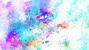 Preview wallpaper abstraction, art, light, spots, watercolor