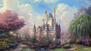 Preview wallpaper art, disneyland, fairy, painting, park
