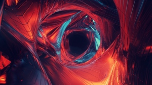 Preview wallpaper art, visualization, wormhole