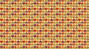 Preview wallpaper background, colorful, heart, many, texture