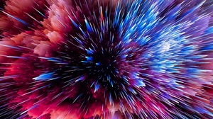 Preview wallpaper bright, colorful, flash, scatter, shards, space