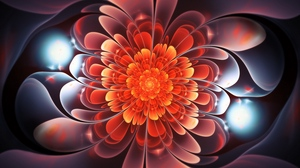 Preview wallpaper abstraction, bright, fractal, glow, spiral, twisted