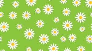 Preview wallpaper art, chamomile, green, patterns, texture