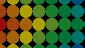 Preview wallpaper background, bright, circles, colorful, large