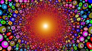 Preview wallpaper bright, circles, colorful, explosion, line, texture