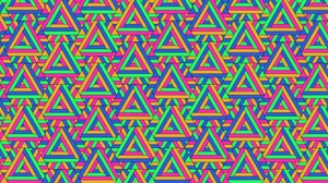 Preview wallpaper colorful, geometric, pattern, triangles