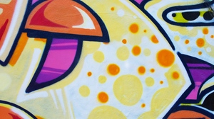 Preview wallpaper colorful, graffiti, paint, texture, wall