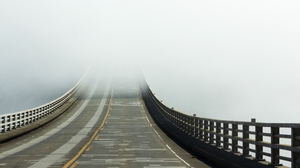 Preview wallpaper bridge, fog, road