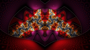 Preview wallpaper background, fractal, glass, patterns, red
