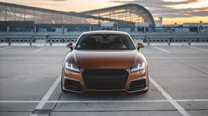 Preview wallpaper audi, audi tt, brown, car, front view