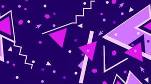 Preview wallpaper colorful, geometric, lines, shapes, triangle, triangles