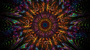 Preview wallpaper abstraction, colorful, mandala, pattern, tangled