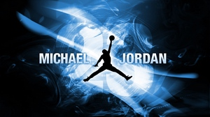 Preview wallpaper athlete, ball, basketball, basketball player, michael jordan, silhouette
