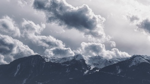Preview wallpaper clouds, mountains, peaks