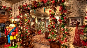 Preview wallpaper christmas, christmas tree, holiday, ornaments, toys