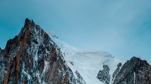 Preview wallpaper cliff, mountain, peak, rock, snow