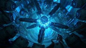 Preview wallpaper art, astronaut, sci-fi, space station