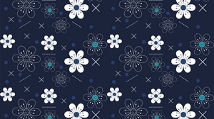 Preview wallpaper flowers, patterns, shapes