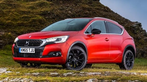Preview wallpaper citroen, crossback, ds 4, red, side view