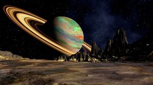 Preview wallpaper planet, ring, saturn, space