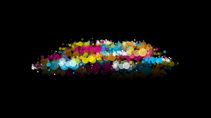 Preview wallpaper abstraction, black, colorful, spots