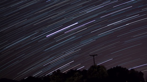 Preview wallpaper lines, night, sky, star trail, stars