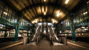 Preview wallpaper escalator, hdr, netherlands, subway, underground