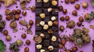 Preview wallpaper bar chocolate, chocolate, delicious, nuts, sweet