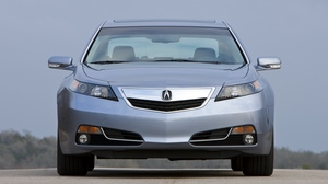 Preview wallpaper 2011, acura, asphalt, front view, nature, silver metallic, sky, style, tl