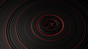 Preview wallpaper black, circles, red, surface, vibration