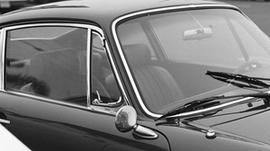 Preview wallpaper black, bw, car, old, vintage