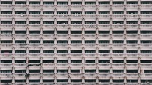 Preview wallpaper architecture, balconies, building, facade, pattern