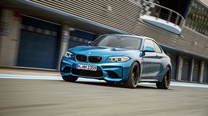 Preview wallpaper blue, bmw, f87, front view, m2