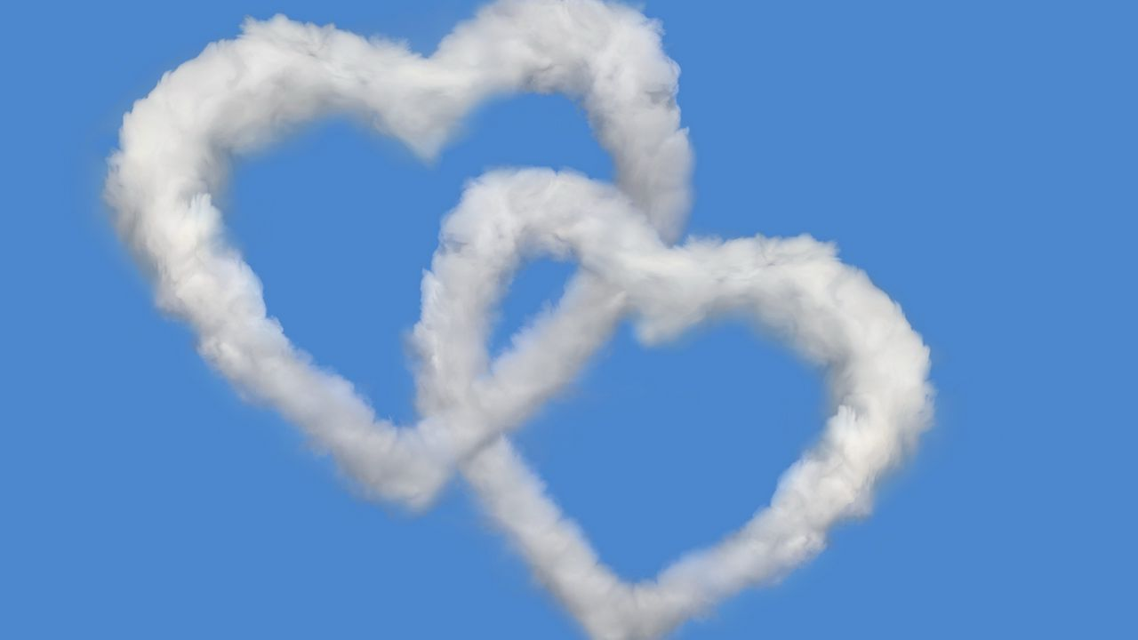 clouds sky love heart