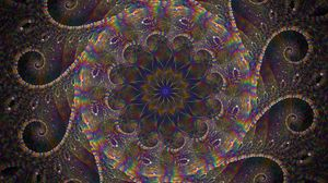 Preview wallpaper abstraction, fractal, iridescent, kaleidoscope, multicolored, pattern
