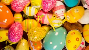 Preview wallpaper easter, easter eggs, holiday, painted eggs