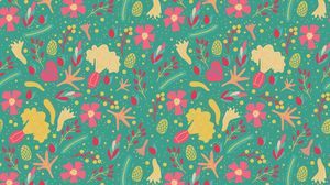Preview wallpaper colorful, flowers, pattern, patterns