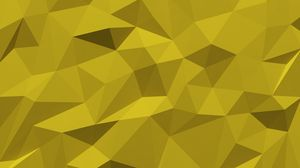 Preview wallpaper fragments, polygon, triangles, volume, yellow