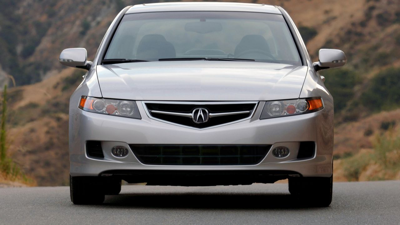 acura silver metallic 2006 tsx nature cars style front view